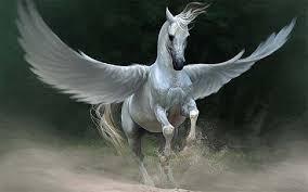 Pegaso. caballo alado